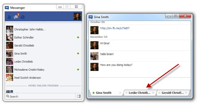 Facebok Messenger Tabbed Chat