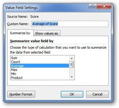 Field Settings