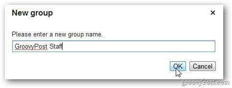 Gmail Group Name
