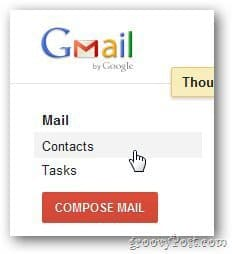 Gmail Groups Contacts