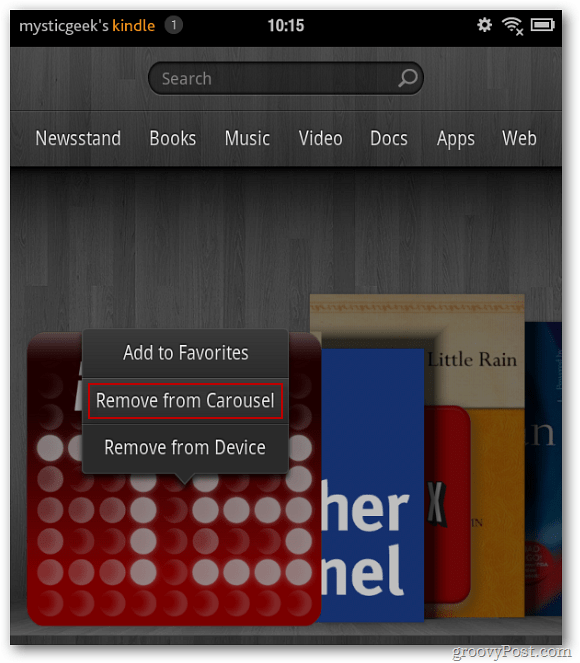 Remove Items From the Kindle Fire Home Screen