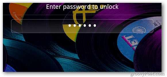 Kindle Fire Lock Screen Password