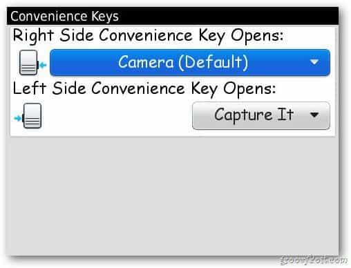 Select Convenience Keys