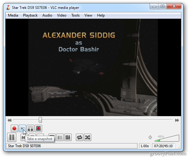 VLC Snapshot Icon