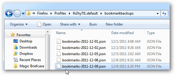 bookmark backups