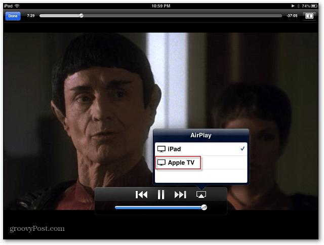 iPad to Apple TV Video