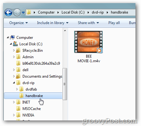 find movie m4v file