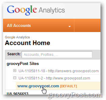 google analytics login to site