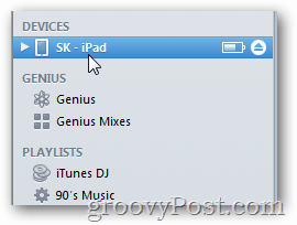find device in itunes