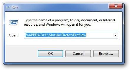 run Menu Firefox