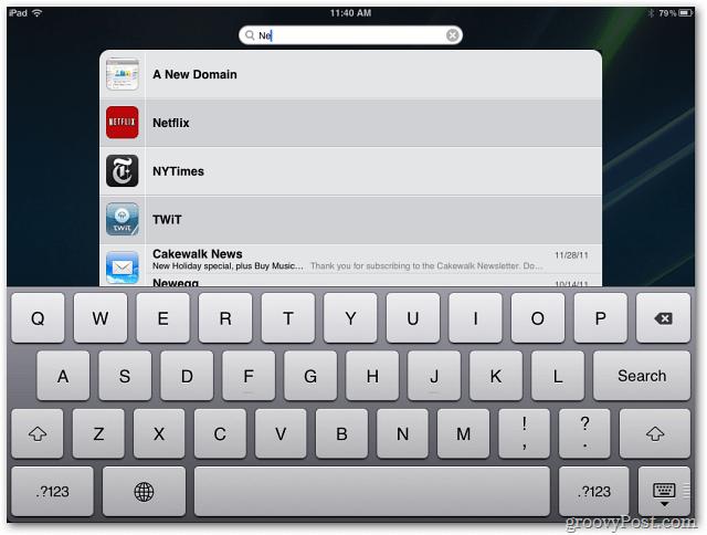 spotlight iPad