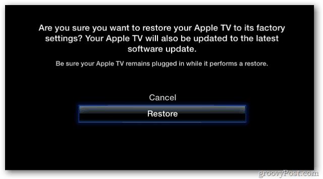 Verify Restore