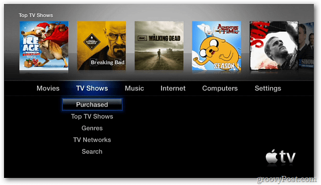 Apple TV 2 Main Menu