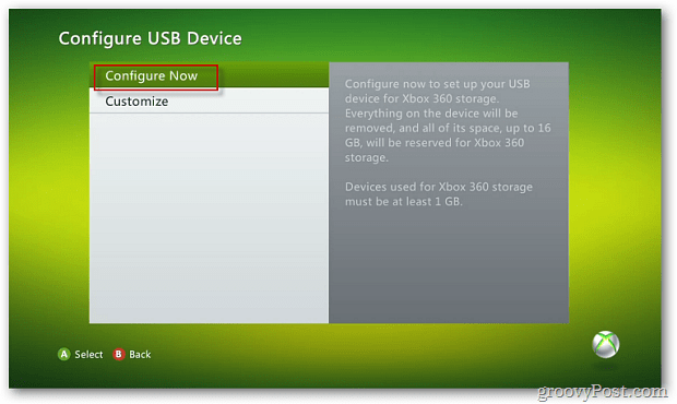 Configure USB Device