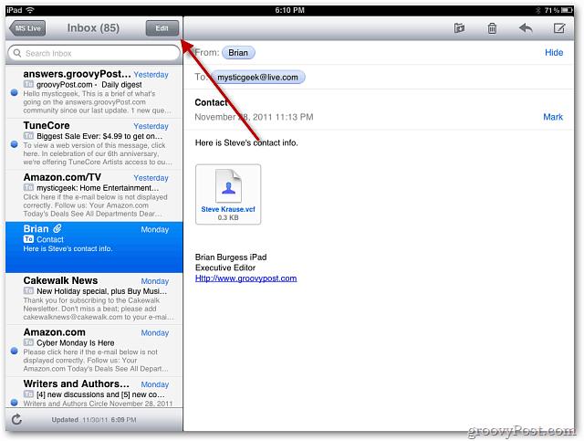 Mail iPad