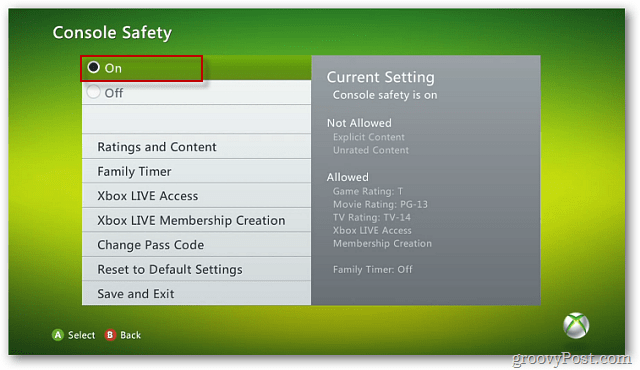 Console Safety