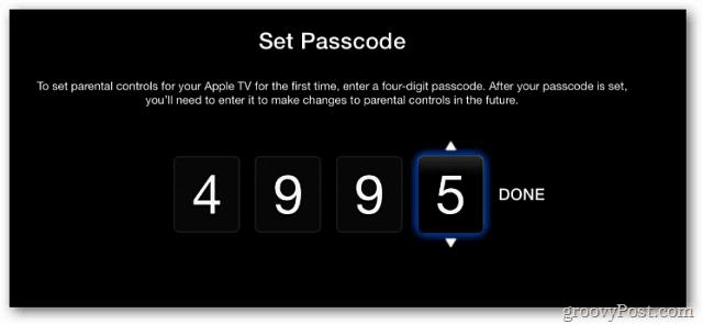 Set Passcode