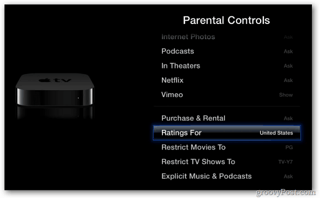 Parental Control Ratings