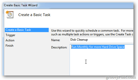 Basic Task Wizard