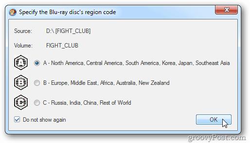 Blu-ray Region Code