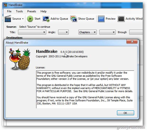 HandBrake 0.9.5