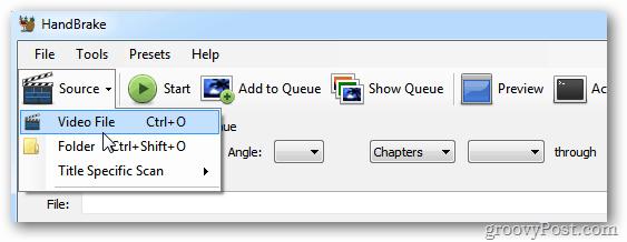 HandBrake Video Source