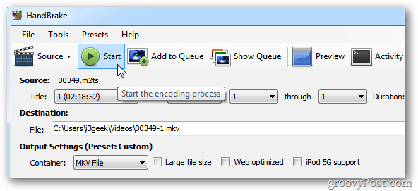 HandBrake Encoding