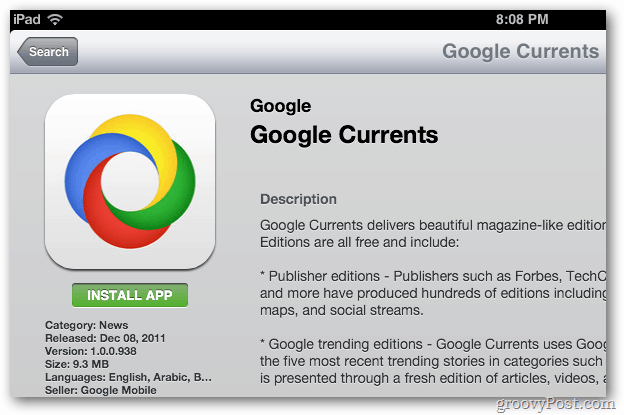 Install Google Currents