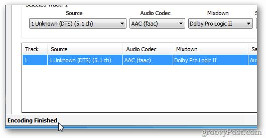 HandBrake Encoding Finished