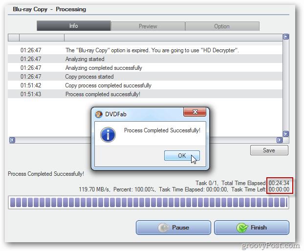 DVDFab Process Successful