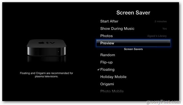Preview Screen Saver