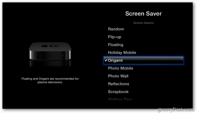 how to change photos playing on apple tv screensaver