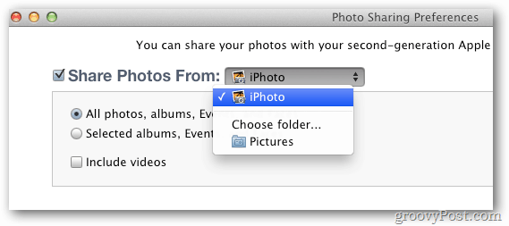 Photo Sharing iTunes