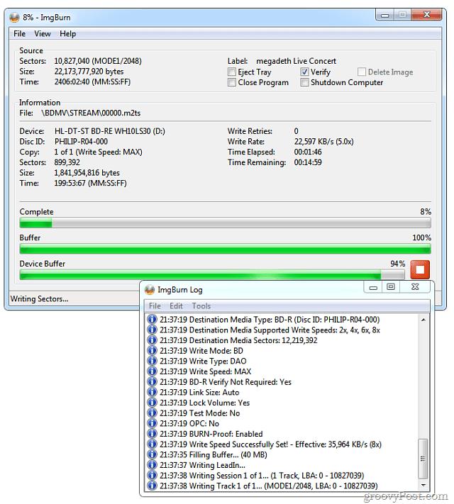 Blu-ray Burning Process