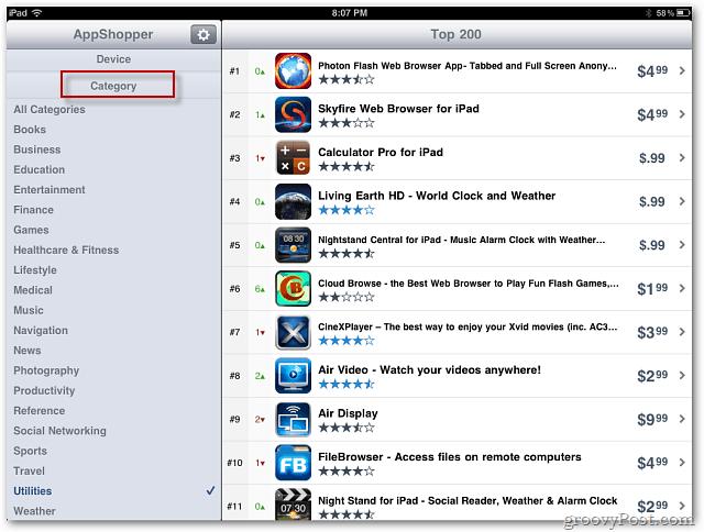 AppShopper Categories