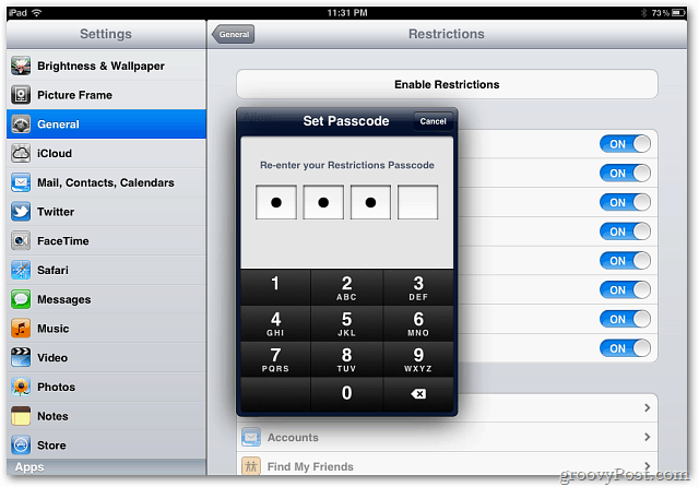 iOS Set Passcode