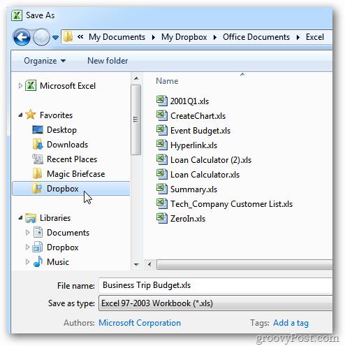 Windows Explorer Save to Dropbox