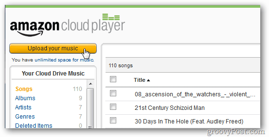 Amazon Cloud Player Upload Your Music