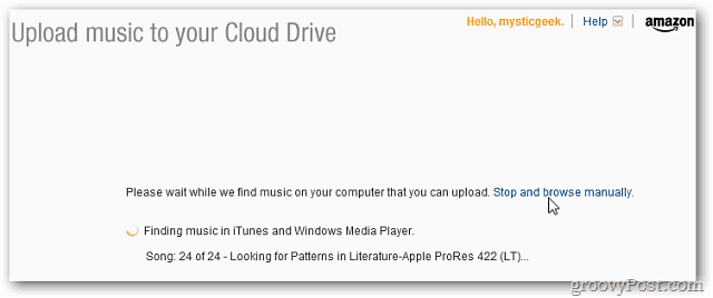 Amazon Cloud Player MP3 Uploader