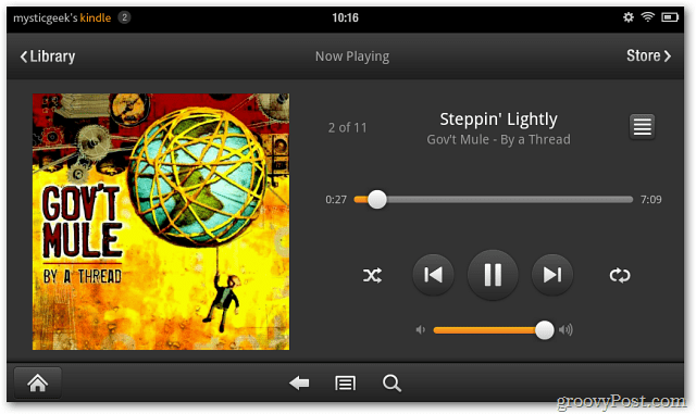 Kindle Fire Cloud Now Playing