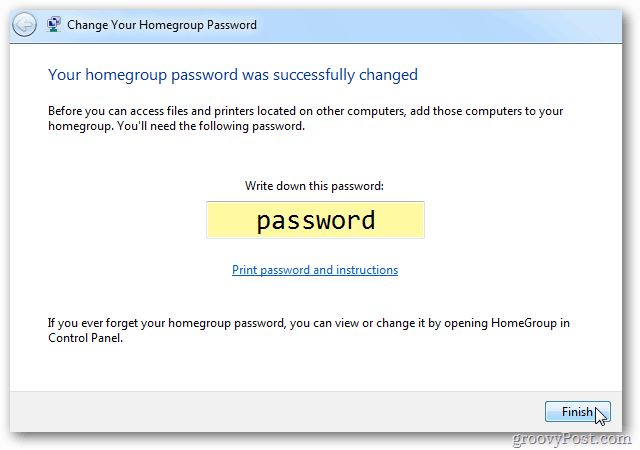 Password Changed