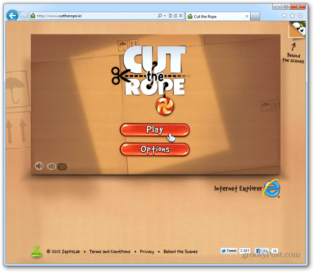 Cut the Rope IE9