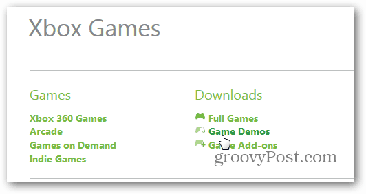 Game Demos