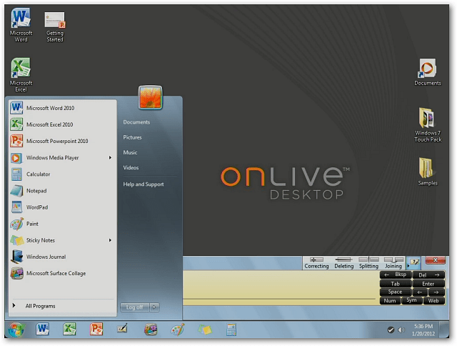 onlive desktop brings windows 7  u0026 office 2010 to ipad