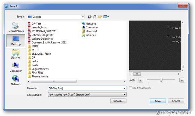 Snagit Save PDF