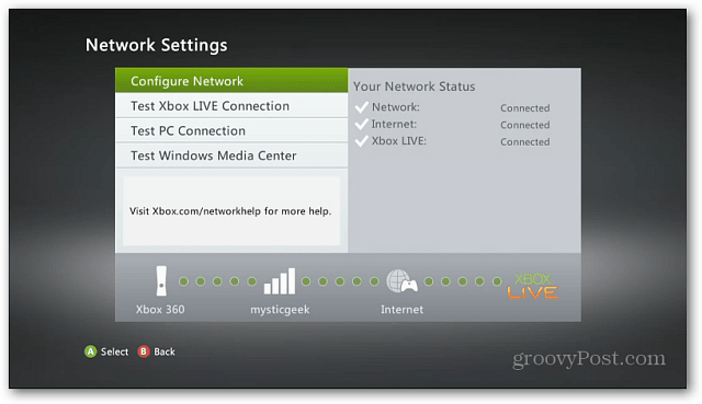 Xbox Network Settings