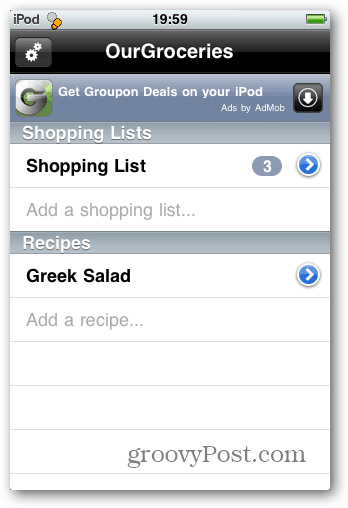 generic shopping list