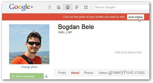 google plus done editing nickname