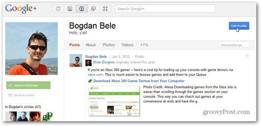 google plus edit profile