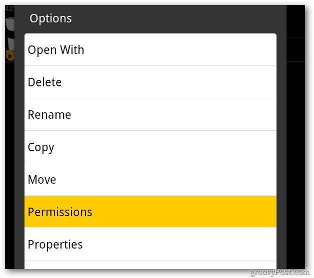root explorer permissions